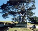 Me, on top of the camera platform overlooking the Hobbiton movie set in Matamata New Zealand.
