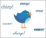 Twitter logo with chirp around it
