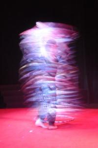 15-year-old hula hoop artist Jesse Patterson.