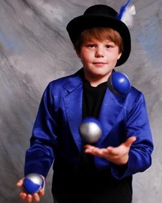 11-year-old juggler Kameron Badgers
