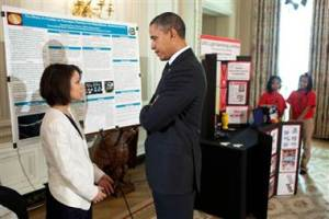 Last year homeless teen Samantha Garvey was invited to the White House to explain her winning project to President Obama.