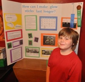 Kameron didn't win at regionals last year - so he started work earlier this year and expects to win next week. Note that last year's display included images he drew by hand as well as photographs snapped with a digital camera.