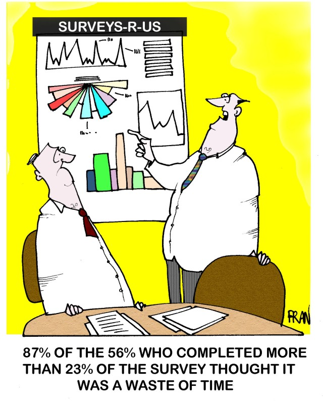 CartoonStock survey cartoon