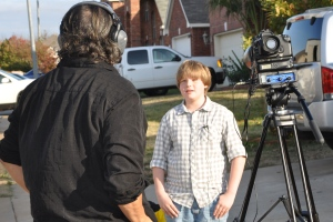 Kameron Badgers on set Ghede Origins
