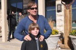 Kameron Badgers and Kevin Sorbo on set Gallows Road