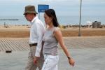 Woody Allen and his wife Soon-Yi (Previn) Allen in Barcelona.