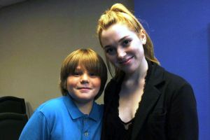 Actors Kameron Badgers and Jennifer Stone
