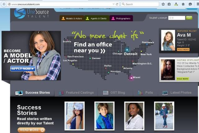 One Source Talent ACTING SCAM HOME PAGE