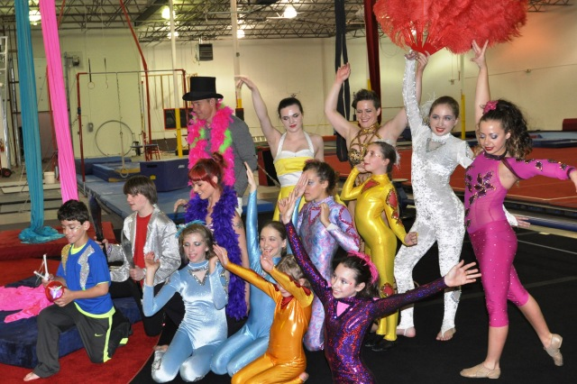 Lone Star Circus School performers on WFAA May 5 2015