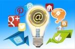 Social Media plus Email Logos