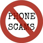 No Phone Scams Graphic by Clandestino Pixabay Creative Commons License