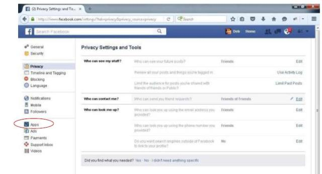 Facebook Quizzes and Privacy