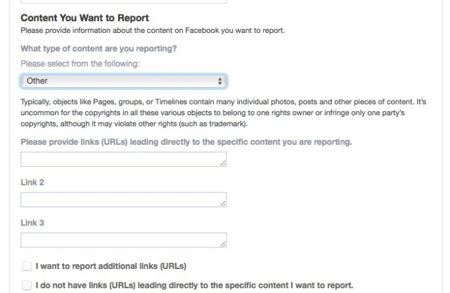 How to report copyright violations on Facebook