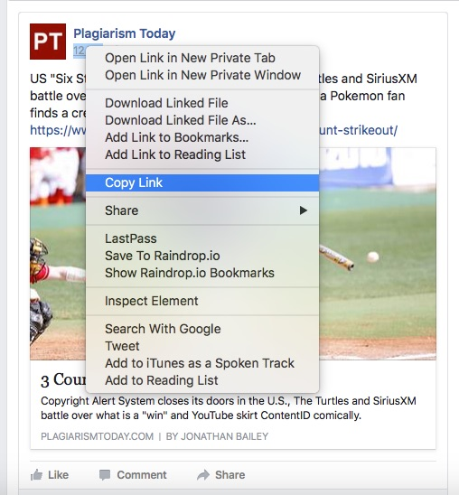 How to report plagiarism on Facebook