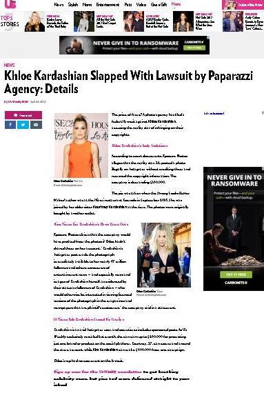 Khloe Kardashian's Lesson in copyright law